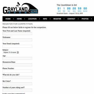 Grayland Open Competition Registration Form Now Live